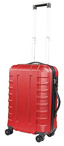 Pure - Hartschalen-Koffer Hugo | Kleiner Trolley mit 4 Rollen und TSA-Schloss in Größe S | Reisekoffer in Handgepäck-Größe | 42 Liter | Rot