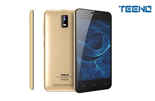 TEENO Smartphone 4G Pas Cher 4.0' HD IPS Téléphone Portable Débloqué 1Go RAM 8Go ROM (Android 7.0 Double SIM Double Caméras Quad Core) (Or)