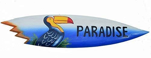 Interlifestyle Tabla Surf Tucán Motivo Paradise Inscripción