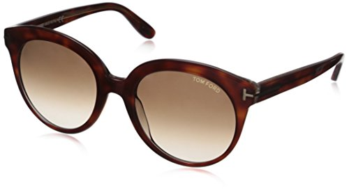 Tom Ford Damen FT0429 56F 54 Sonnenbrille, Braun (Avana/Altro/Marrone Grad),
