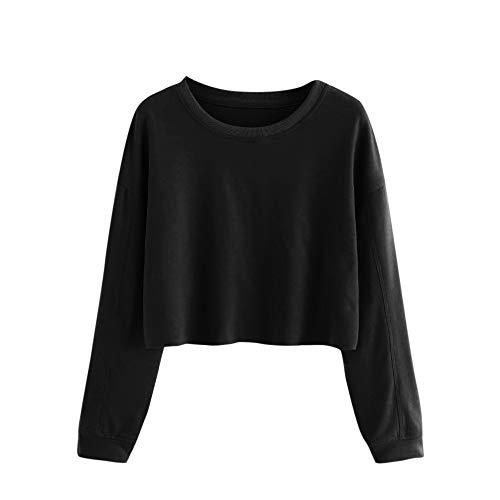 Blonde Lange Ärmel T-shirt (Chenang Langarm Einfarbiger Pullover mit Langen Ärmeln Kapuzenpullis Langarm Damen Hoodie Sweatshirt mit Tops Bluse Stickerei Kapuzen Schulterfreie Patchwork T-Shirt Tunic Bluse Oberteile)