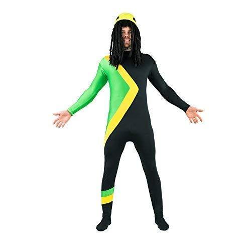 Adult Coole Kostüm - Bodysocks Jamaikanischer Bobschlitten Cool Running Kostüm (XXL)