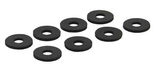 InLine® 244 Gummi Unterlegscheiben, zur Festplatten-Entkopplung, 8 Stück