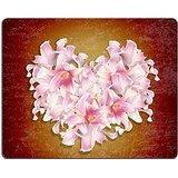Luxlady Gaming Mousepad foto ID: 23169505 La bella decorazione a forma di cuore, motivo: fiori di giglio Creative matrimonio con petali di rosa, motivo: fiori astratti cardThe bellissimo cuore dell