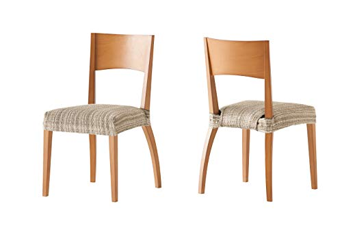 Pack de 2 Fundas de Asiento para silla modelo MEJICO, color BEIGE,...