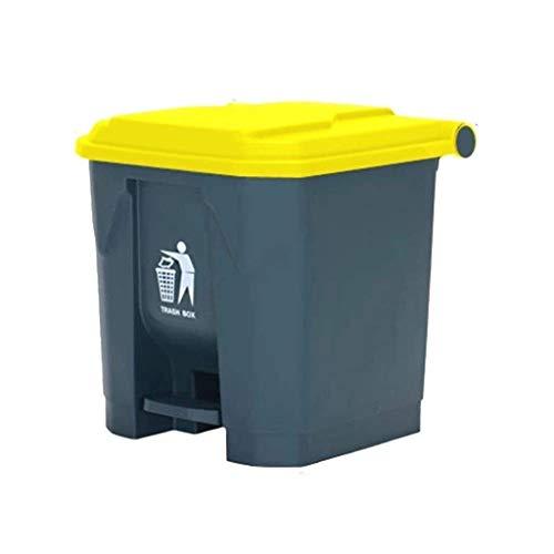 SDFGFGH Tribu de Basura de la Basura de plástico Puede, de 30 litros Espesar Desgaste de Basura Resistente...