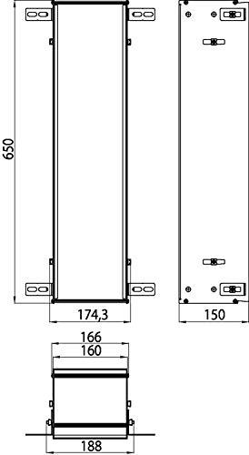Emco Asis 150 Unterputz Einbaurahmen, für Unterputzschränke Asis, für Schrankmodule mit der Höhe 654 mm - 974000041, Grau