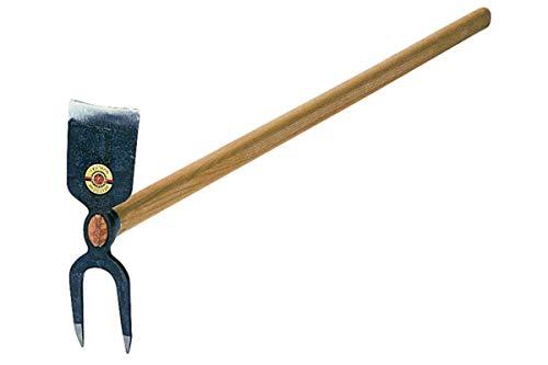 SHW 53613 Gartenhacke Hacke Breitblatt 2 Zinken Spitz Geschmiedet Stahl mit Stiel Esche 27 cm hoch 135 cm lang