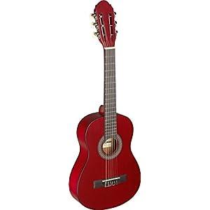 Red C405 M C405 Stagg-Chitarra classica 1/4, colore: rosso
