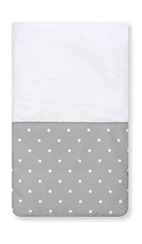 Pirulos 83300520 - Colcha con relleno minicuna stars, color blanco y gris