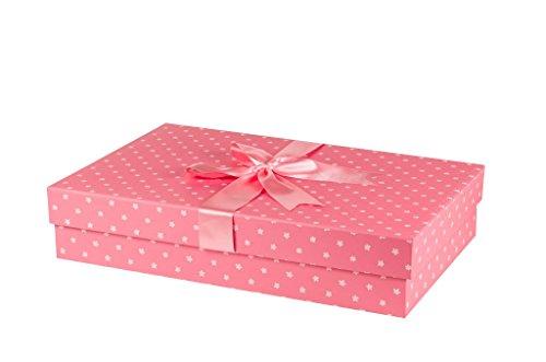 The Wedding Dress Box Company Klassische handgefertigte Hochzeitskleiderbox, einfache Blumen, 75 x...