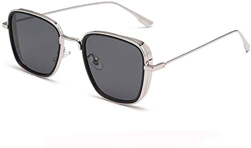 elegante Branded Metal Body Silver Square inspired from Kabir Singh Sunglass for Men and Boys