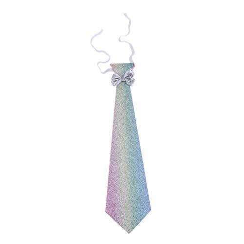 IPOTCH Jungen Krawatten Einstellbar Krawatten Formal Vorgebunden Hals Krawatten zum Hochzeit - Regenbogen, 41x5,5 cm Formale Krawatte