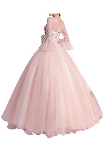 Promgirl House Damen Traumhaft Blumen A-Linie Abendkleider Cocktail Party Festkleider Ballkleider Kurz Style O