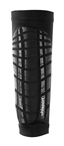 uhlsport Carbon Tec Schienbeinschoner schwarz/Silber, L -