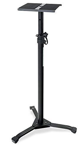 Pronomic SLS-20 Studio Monitor Stativ faltbar - klappbare Füße - höhenverstellbar von 75 cm bis 130 cm - Ablagefläche mit Moosgummistreifen für Monitorboxen oder HiFi-Lautsprecher - schwarz