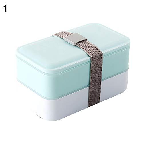 Gracorgzjs Doppelschichtige Lebensmittel-Aufbewahrungsbehälter für Mikrowelle, Herd, Student blau - Herde Jumper