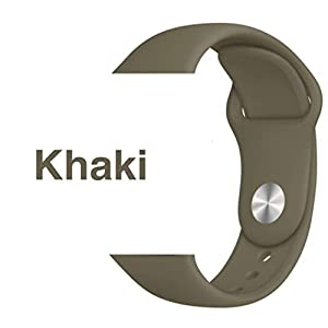 Armband für Apple Watch in Khaki 38/40mm passend für Apple Watch 1 2 3 4 5