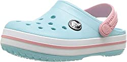 Crocs Crocband Clog Kids, Unisex-Kinder Clogs, Blau (Ice Blue/white), 33/34
