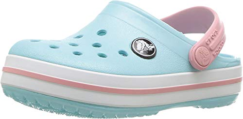 Crocs Crocband Clog Kids, Unisex-Kinder Clogs, Blau (Ice Blue/white), 27/28