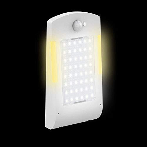 Street Licht, 48 LED Terrasse Bewegungsmelder Weg Energiesparend Wand Solarbetrieben Sehr Helle Sicherheit Outdoor Garten Wasserfest Garten - Weiß, Without Rod (Einfache Menschliche Rod)
