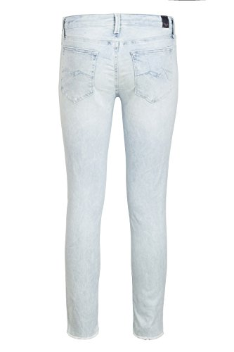 REPLAY Damen Röhrenhose bleached denim
