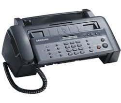 SAMSUNG Inkjet Fax SF-365TP Vitesse noir 4 ppm Modem 14.4Kbps Ecran LCD 16 caractères Combiné Intégré