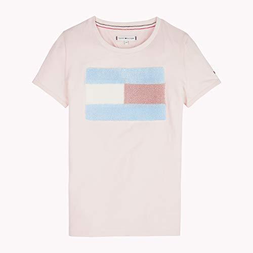 Tommy Hilfiger M/ädchen T-Shirt Fur Flag Tee S//S