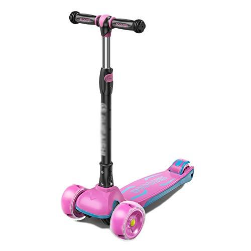 Kick Scooter Kinderroller mit 3 Rädern und verstellbaren Griffen, lenkbar, leicht faltbar