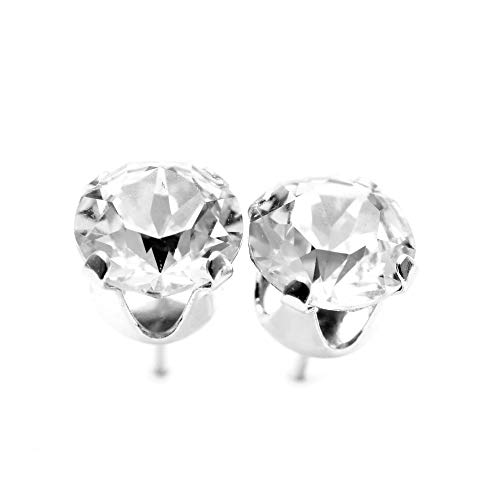 a6ada2cb1e7f4 925 Sterling Silver stud earrings for women made with sparkling Diamond  White crystals from Swarovski®. London jewellery box. Hypoallergenic &  Nickle ...