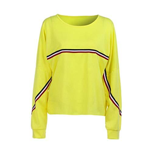Sweatshirt Damen SUNNSEAN Frauen Herbst Hoodie Lässige Einfarbig Kleidung Oberteile Pullover Tops Stilvolle Tuniken Bequem Bluse