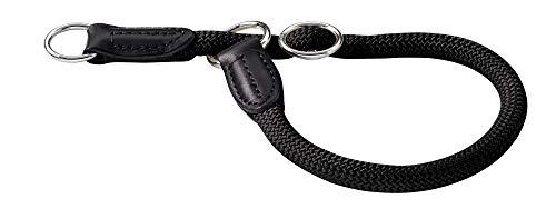 HUNTER Freestyle Dressurhalsung, Hundehalsband, Zugstopper, robust, wetterfest, 50 (M-L), schwarz