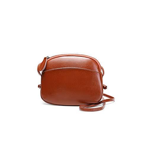 Victoe Modische hochwertige Leder-Schultertasche Exquisite Verarbeitung leichte Mini-Tasche Exquisite Damen Schultertasche, Orange (Orange) - VICTOE-9825 -