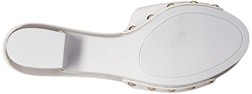 Nine West Forchen Diapositive synthétique Sandal white
