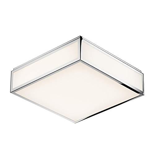 Bauhaus 3 N LED Wand-/Deckenleuchte, chrom weiß glänzend Phasenabschnittdimmer BxHxT 28x28x8cm 3000K 3000lm CRI>80 IP44