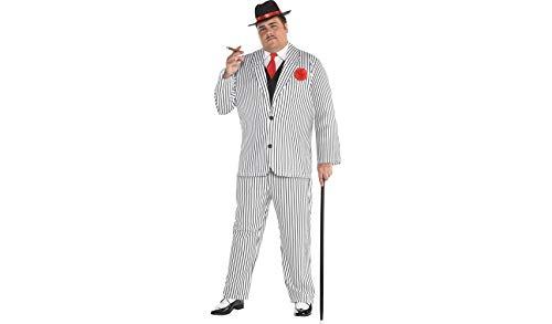 amscan Gangster Halloween-Kostüm für Herren, Übergröße, inkl. (Gangster Kostüm Plus)