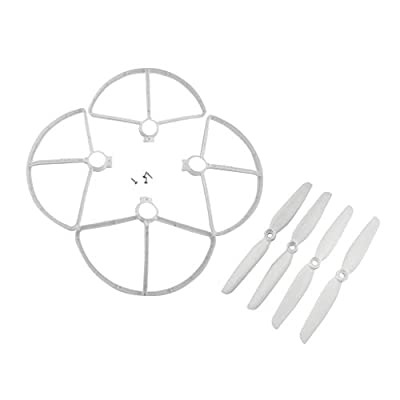 Fenteer Accessories Parts Kits Blade Protective Cover & Propellers for MJX B5W F20 Bugs 5W Four-Axis Aircraft
