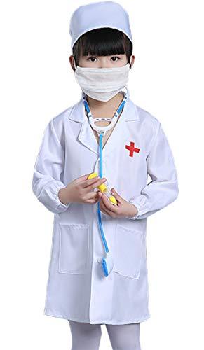Oksakady bambini medico giocare impostato fingere medico vestire costume per adulto (giacca, cappello, maschera, stetoscopio, siringa)