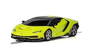 Scalextric C3957 Green Lamborghini Centanario - Ranura para Coche