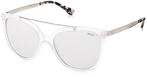 Polo Ralph Lauren Damen 0Ph4135 500287 54 Sonnenbrille, Weiß (Matte/Gray),