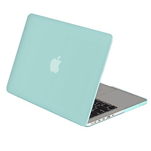 MOSISO MacBook Pro 13 Retina Hülle (NO CD-ROM Drive) - Hochwertige Hartschale Schutzhülle für MacBook Pro 13 Zoll mit Retina Display (A1502 / A1425, Version 2015/2014/2013/Ende 2012), Mint Grün