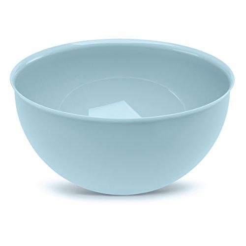 Koziol 3807639 Saladier 5 L, Plastique, Bleu Pâle Opaque, 30 x 30 x 14,6 cm