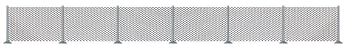 Busch 8117 - modellismo ferroviario, set per recinzione a rete metallica, scala n/tt