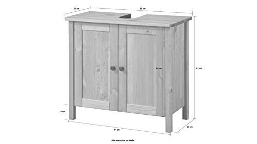 Waschbeckenunterschrank Sylt, Landhaus, (65 cm breit) - 7