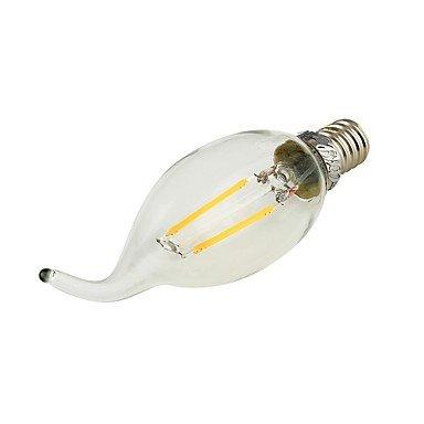 FDH E14 Luces de velas LED C35 2 COB 180 lm decorativo blanco cálido
