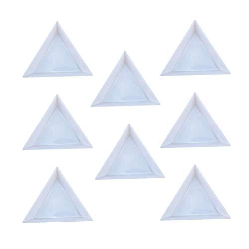 24 stücke Schmuckablage Schmuck Halter für Strass Perlen Schmuck Werkzeuge Schmuckzubehör (Weiß) -