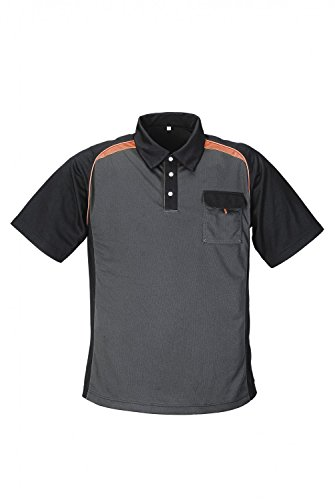 Terratrend JOB Polo-Shirt grau/schwarz/orange
