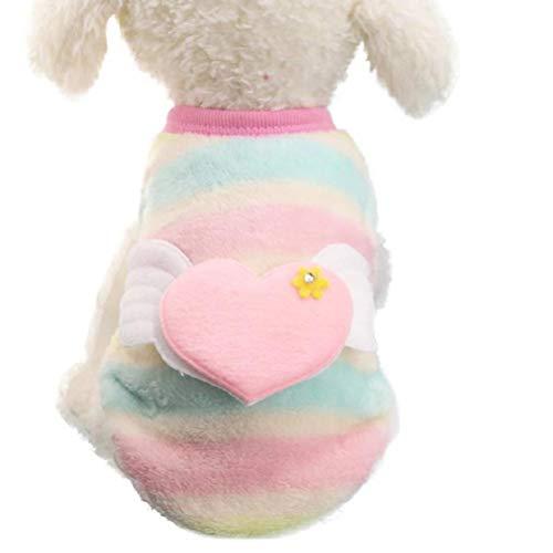 Bluelucon Kleine Haustier Hundekleidung Welpen Brief Bestickt Polyester T-Shirt Weste Mode Pullover, warme Hund Pullover Cat Kleidung, Fleece Haustier Mantel -