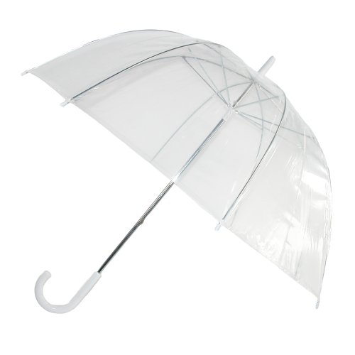 iRain Unisex Clear Bubble Dome Umbrella, Clear