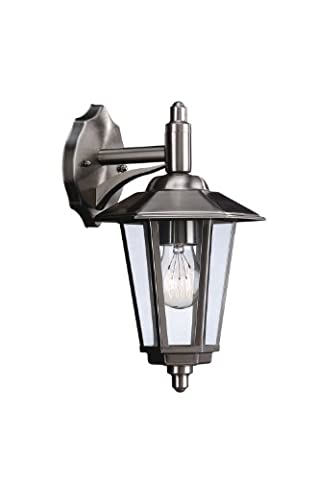 Massive Galveston Outdoor Wall Light Stainless Steel (Requires 1 x 60 Watts E27 Bulb)